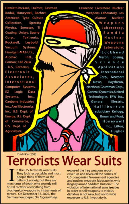 Terrorists wear suits