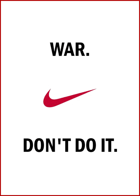 War don't do it