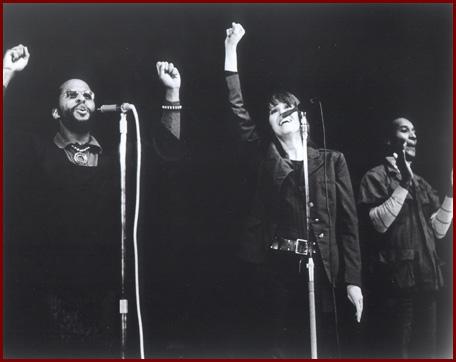 Fta jane on stage-raised fist