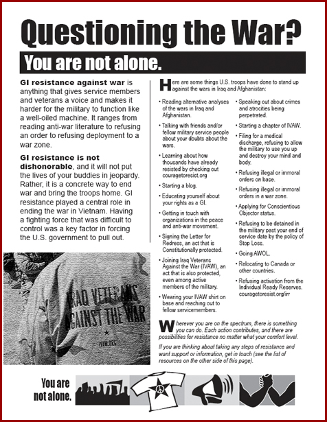 Courage to resist pamphlet part 1
