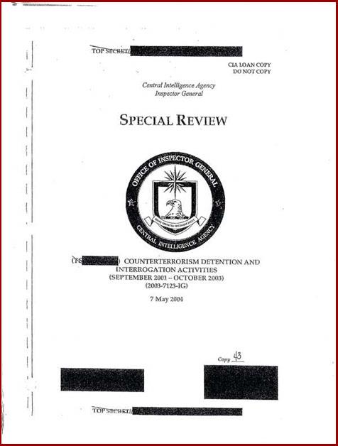 Torture report obaama frontspiece