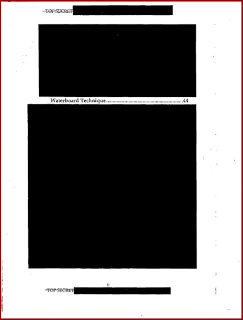 Torture report Bush table of contents p2