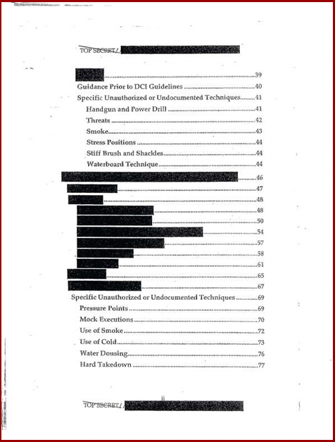Torture report Obama table of contents p2