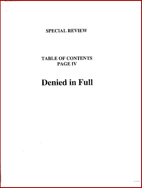 Torture report bush table of contents p4