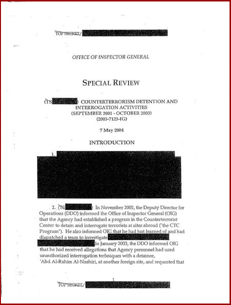 Torture report Obama introduction p1
